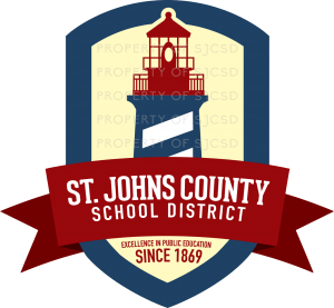 logo for St. Johns County School District