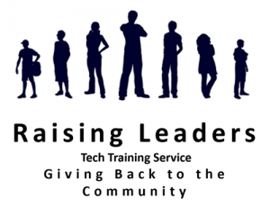 Raising Leaders, tech Training Service, Giving Back to the Community Logo