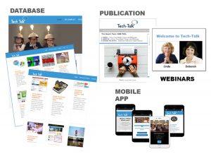 4 products: newsletter, database, app, webinars