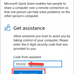 Use Quick Assist to Help Someone Remotely